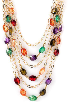 Nordstrom Crystal Collection Multistrand Necklace