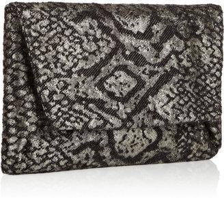 Lanvin Mai-Tai metallic brocade clutch