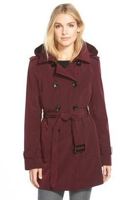 Women's Calvin Klein Double Breasted Trench Coat $158 thestylecure.com