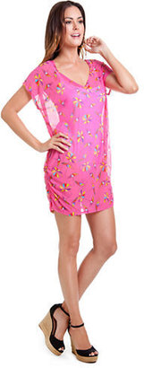 Anne Cole Printed Mesh Tunic Cover-Up