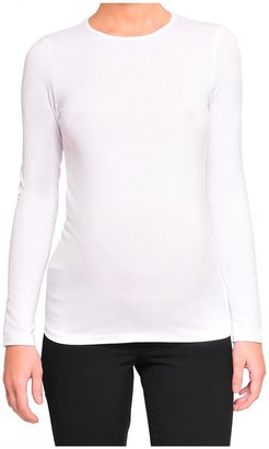 Olian Long Sleeve Basic Solution Lycra Top - Black-Black-X-Small