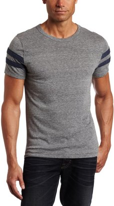 Alternative Men's Short Sleeve Football Tee Grey/True Navy 2X