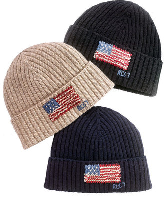 Polo Ralph Lauren Hat, American Flag Ribbed Beanie