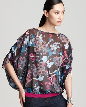 Sweet Pea Quotation Blouse - Tie Back Chiffon Printed