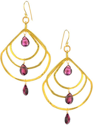 Wendy Mink Mystic Topaz Multi-Hoop Earrings