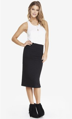 Express Stretch Knit Midi Pencil Skirt
