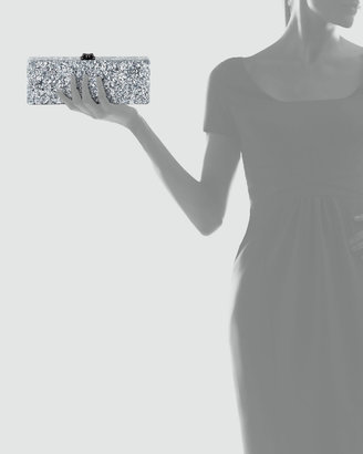 Flavia Edie Parker Confetti Acrylic Clutch Bag, Silver