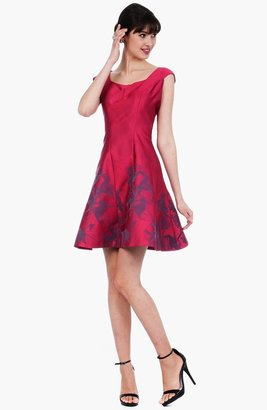 Kay Unger Print Fit & Flare Dress