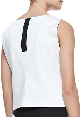 Alice + Olivia Stace Face-Front Sleeveless Tank