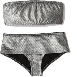 Milady Marie France Van Damme Textured Bandeau Bikini