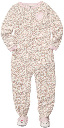 Carter's Little Girls' Animal-Print Footed Pajamas