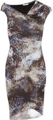 Helmut Lang Oxide printed jersey dress