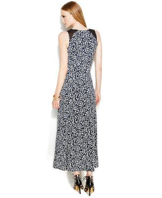 Vince Camuto Illusion-Panel Printed Maxi Dress