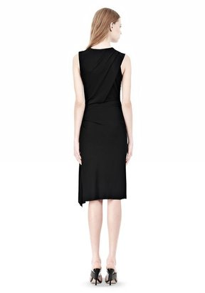 Alexander Wang Twisted Drape Front Sleevless Dress