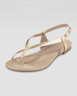 Cole Haan Inwood Flat Thong Sandal, Platino Metallic