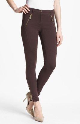 MICHAEL Michael Kors Zip Detail Seamed Ponte Pants (Petite)