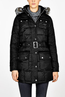 Barbour Black Arctic Parka Puffer Coat