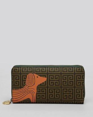 Jonathan Adler Wallet - Printed Dog Continental Zip