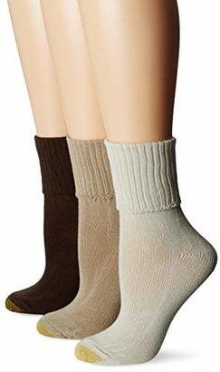 Gold Toe Women's Bermuda Turn Cuff Sock, Pack of 3