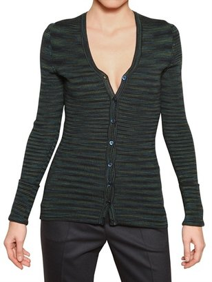 M Missoni Ribbed Knit Cardigan