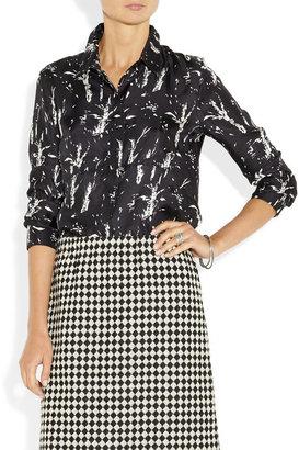 Marni Printed silk-twill shirt