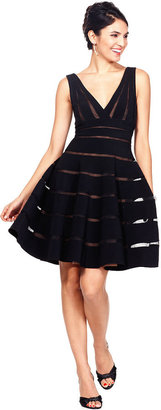 JS Collections Sleeveless Striped A-Line Dress