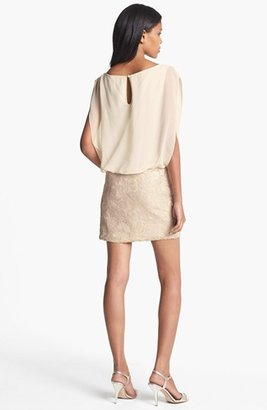 Aidan Mattox Embellished Blouson Dress (Online Only)
