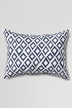 Lands' End 12 x 16 Outdoor Diamond Decorative Pillow