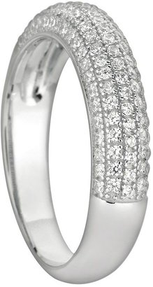Silver on the rocks sterling silver cubic zirconia ring