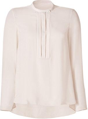 Brunello Cucinelli Silk Pleated Front Blouse