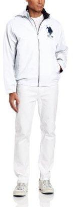 U.S. Polo Assn. Men's Solid Hooded Windbreaker