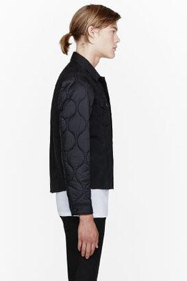 Undercover Black quilted-sleeve denim jacket