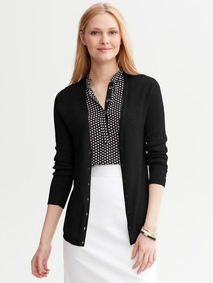 Banana Republic Rib-Knit V-Neck Cardigan