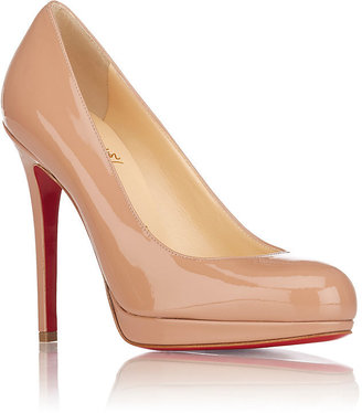 Christian Louboutin Women's New Simple Platform Pumps-BEIGE, TAN