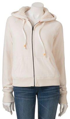 So fleece zip-front hoodie
