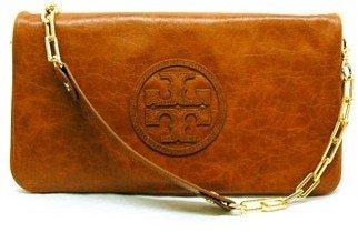 "Tory Burch Clayton Classic Reva Clutch"" Sand Handbag"