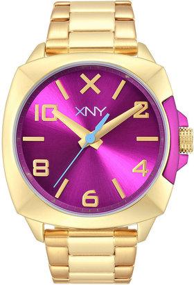 XNY Women's City Chic Gold-Tone Stainless Steel Bracelet Watch 38mm BV8103X1