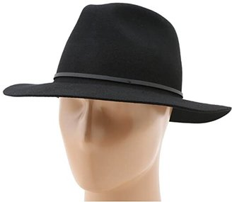 Brixton Wesley Fedora (Black) Traditional Hats