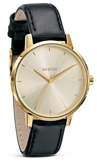 Nixon The Kensington Leather Watch, 36.5mm