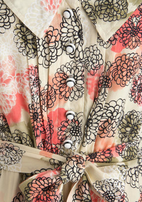 Tulle Chrysanthemum Clad Dress
