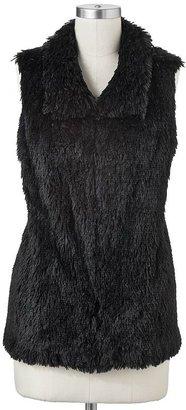 Apt. 9 shaggy faux-fur vest