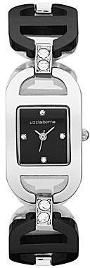 Liz Claiborne Womens Black Bracelet Watch