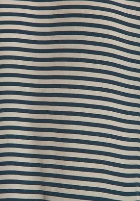 Lauren Conrad Paper Crown by Beam Blouse in Navy/Cream Stripe