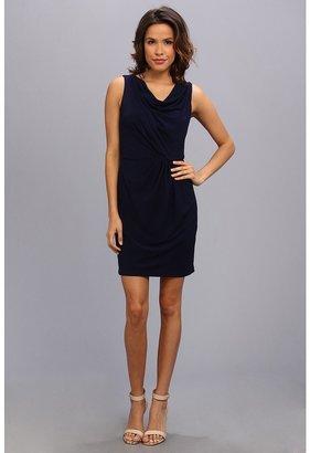 Jessica Simpson Sleeveless Asymmetrical Cowl Drape Blouson Dress