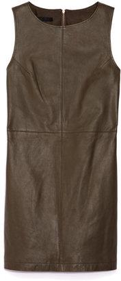 Jenni Kayne Zip Back Leather Shift Dress
