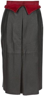 Gianfranco Ferre Vintage Leather skirt