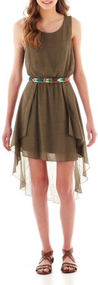 As U Wish LOVE REIGNS Sleeveless Belted High-Low Dress
