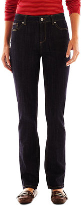 LIZ CLAIBORNE Liz Claiborne Classic Straight Leg Jeans - Tall $50 thestylecure.com