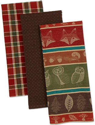 JCP Woodsy Set of 3 Kitchen Towels