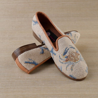Gump's Crab Needlepoint Loafers